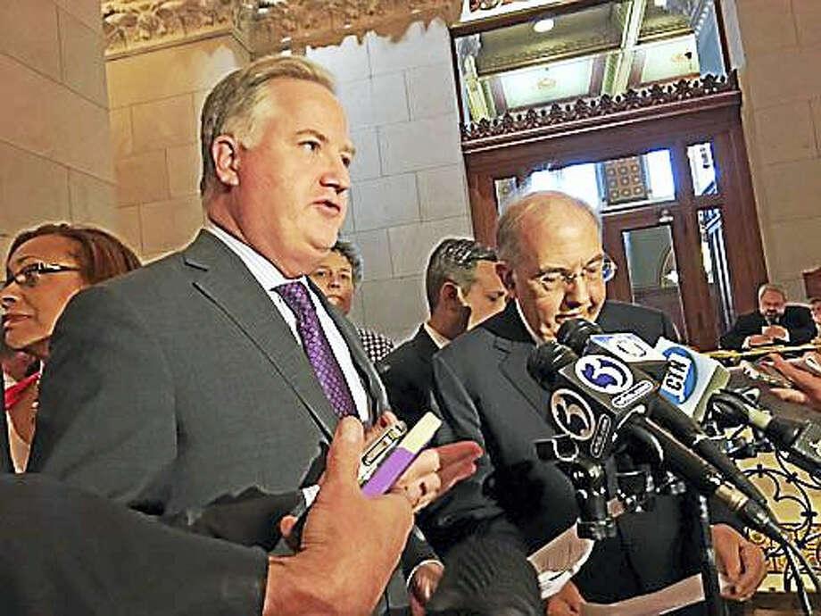 House Speaker Brendan Sharkey and Senate President Martin Looney Photo: Christine Stuart Photo