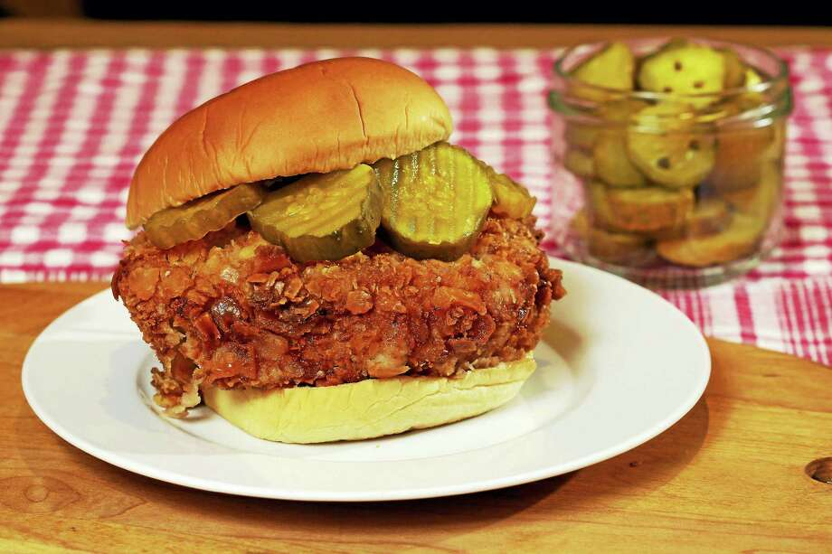 """Created by Elizabeth Karmel as a public homage to the Chick-fil-A sandwiches she grew up eating, her """"chickwich"""" is dipped three times before cooking, for an extra crispy crust. Photo: Richard Drew — The Associated Press  / Copyright 2016 The Associated Press. All rights reserved. This material may not be published, broadcast, rewritten or redistribu"""