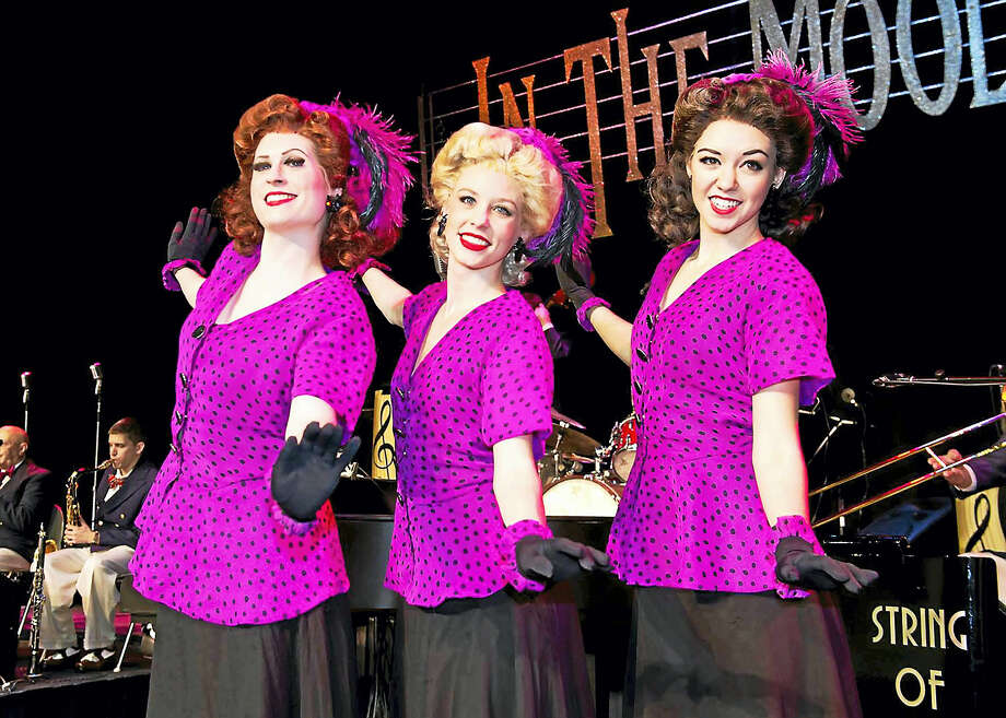 "Three cast members from the colorful ""In the Mood."" Photo: Contributed"