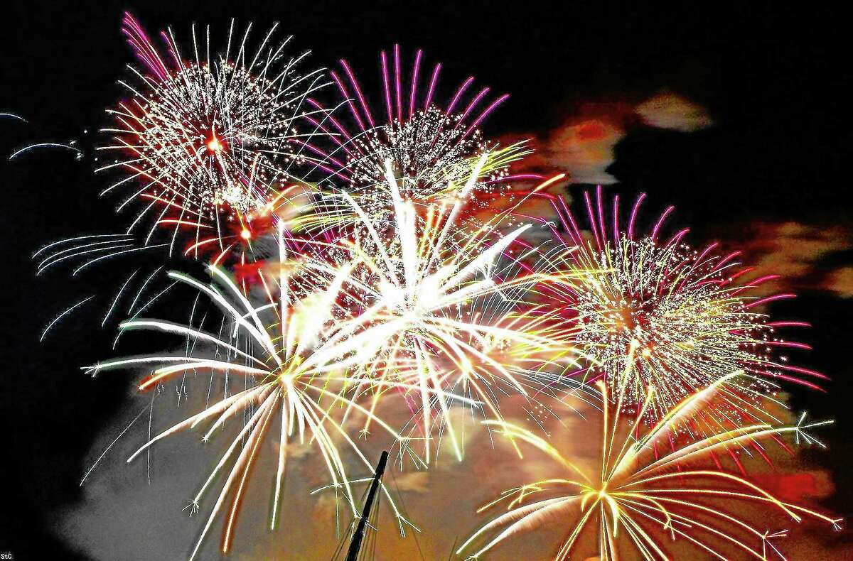 A fireworks display from 2013.