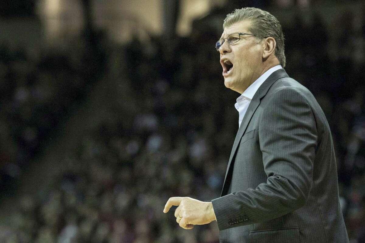UConn head coach Geno Auriemma.