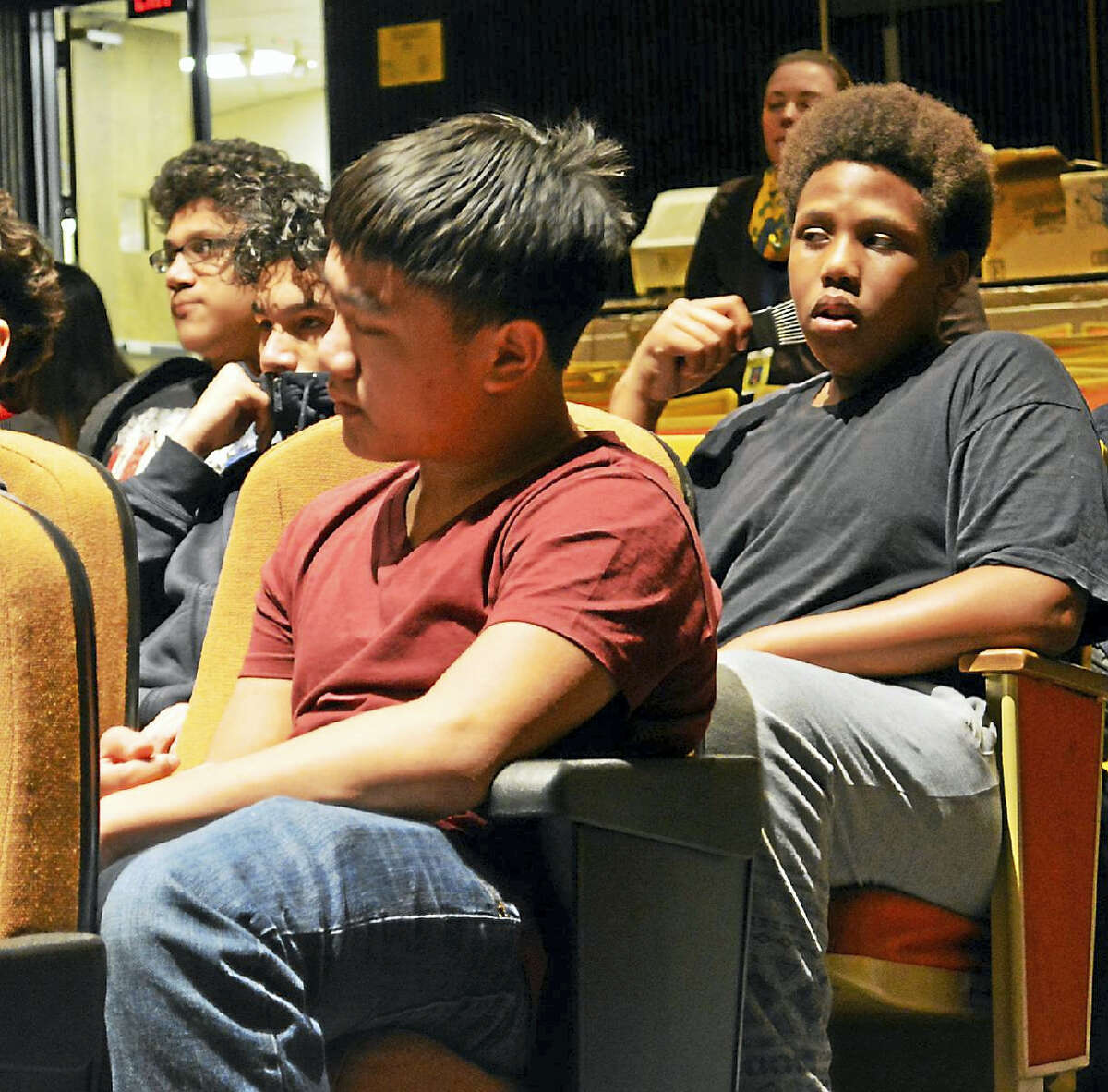Successful athletes like Highsmith and Carrillo, all high-achieving students in or who graduated from the Middletown school system in different stages of their careers and lives, urged the 30 youth in the program to put their schoolwork first before sports to ensure their future success.