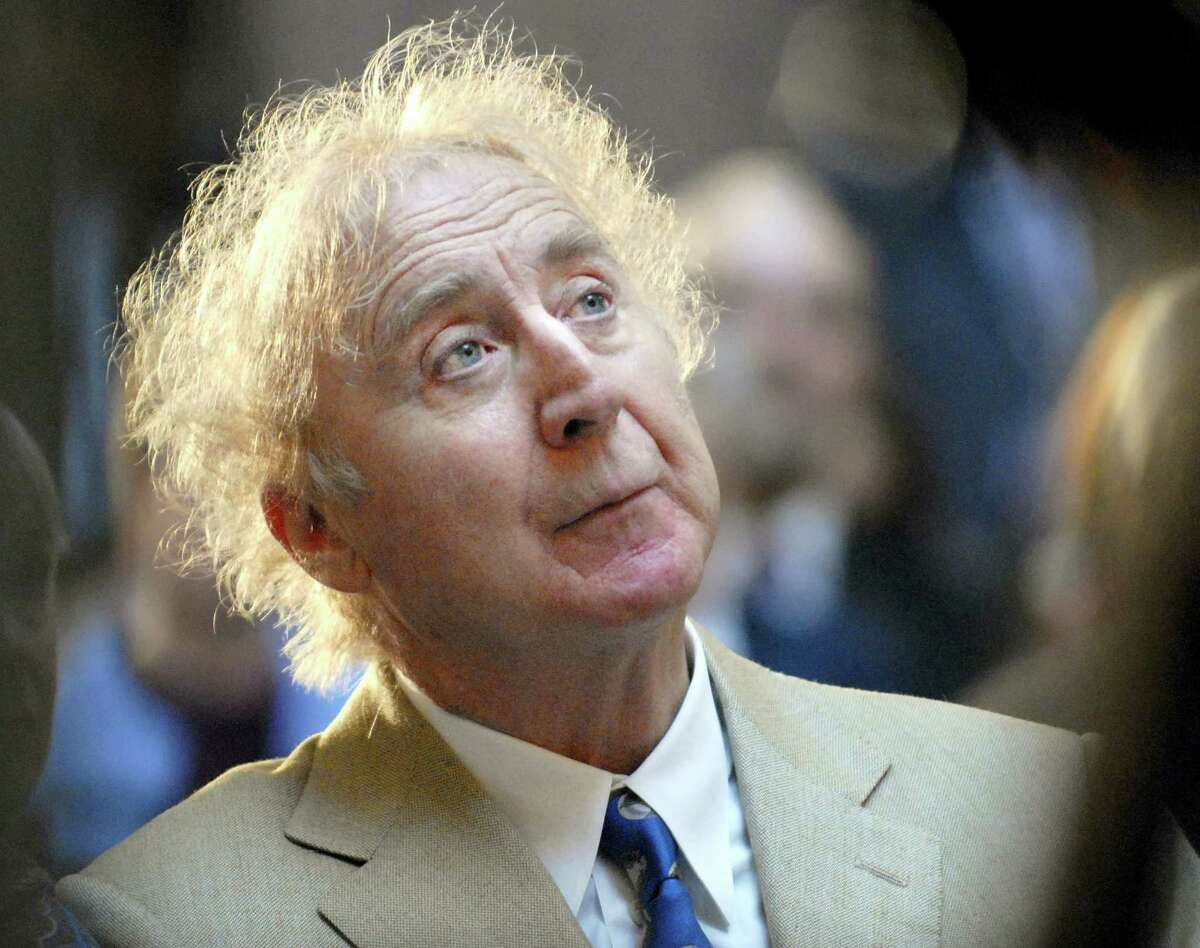 "In this April 9, 2008 file photo, actor Gene Wilder listens as he is introduced to receive the Governor's Awards for Excellence in Culture and Tourism at the Legislative Office Building in Hartford, Conn. Wilder, who starred in such film classics as ""Willy Wonka and the Chocolate Factory"" and ""Young Frankenstein"" has died. He was 83."