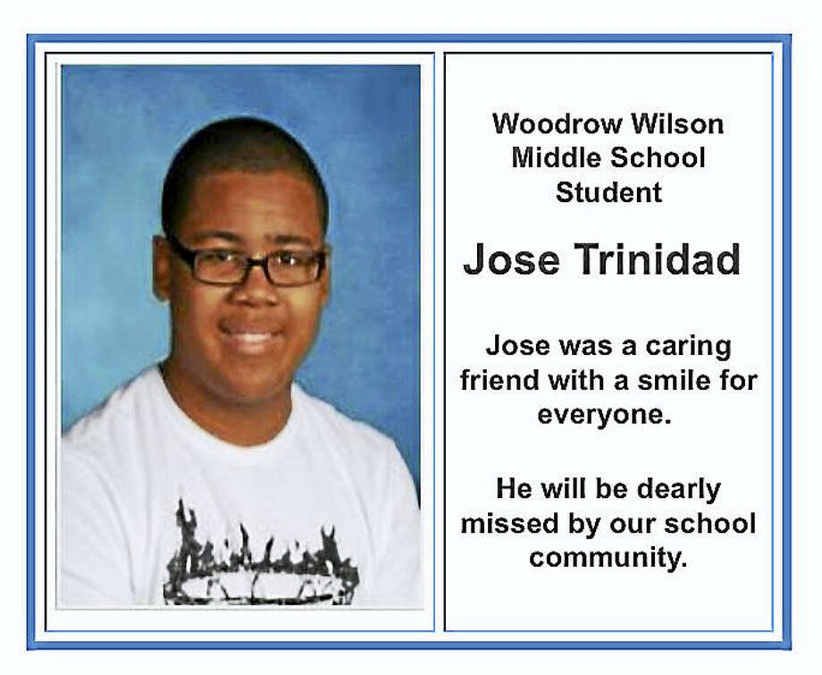 Jose Trinidad, an eighth-grader at Woodrow Wilson Middle School in Middletown, died Thursday during an after-school basketball function. Photo: Courtesy Photo