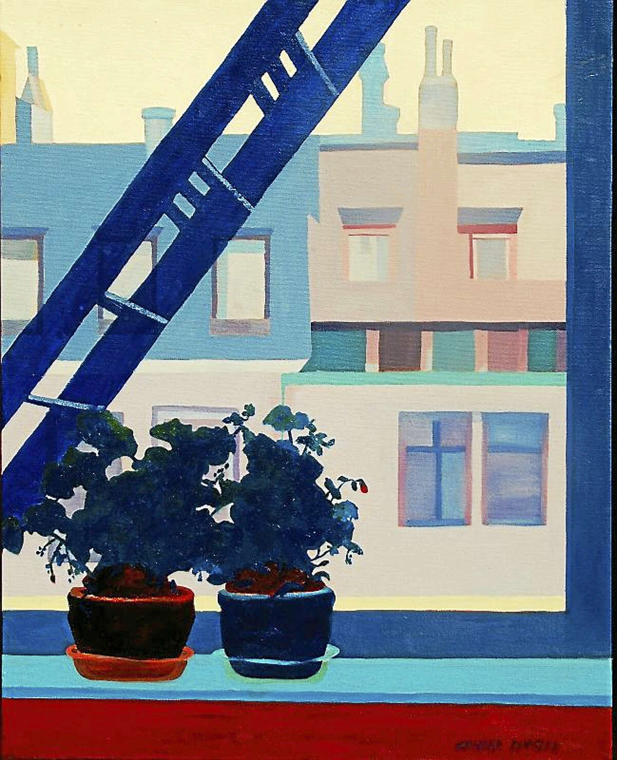 "Contributed photo ""View from NYC Apartment"" oil, by Sandra Kensler."