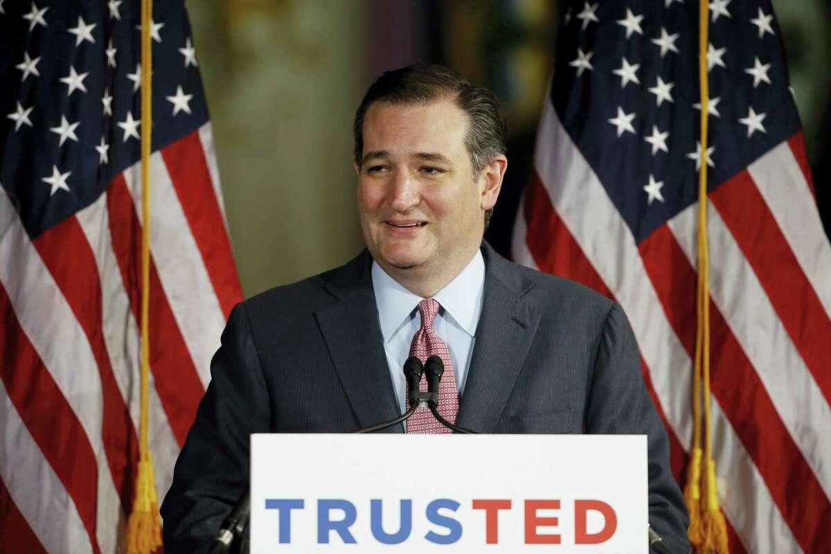 In this April 19, 2016 photo, Republican presidential candidate, Sen. Ted Cruz, R-Texas in Philadelphia.