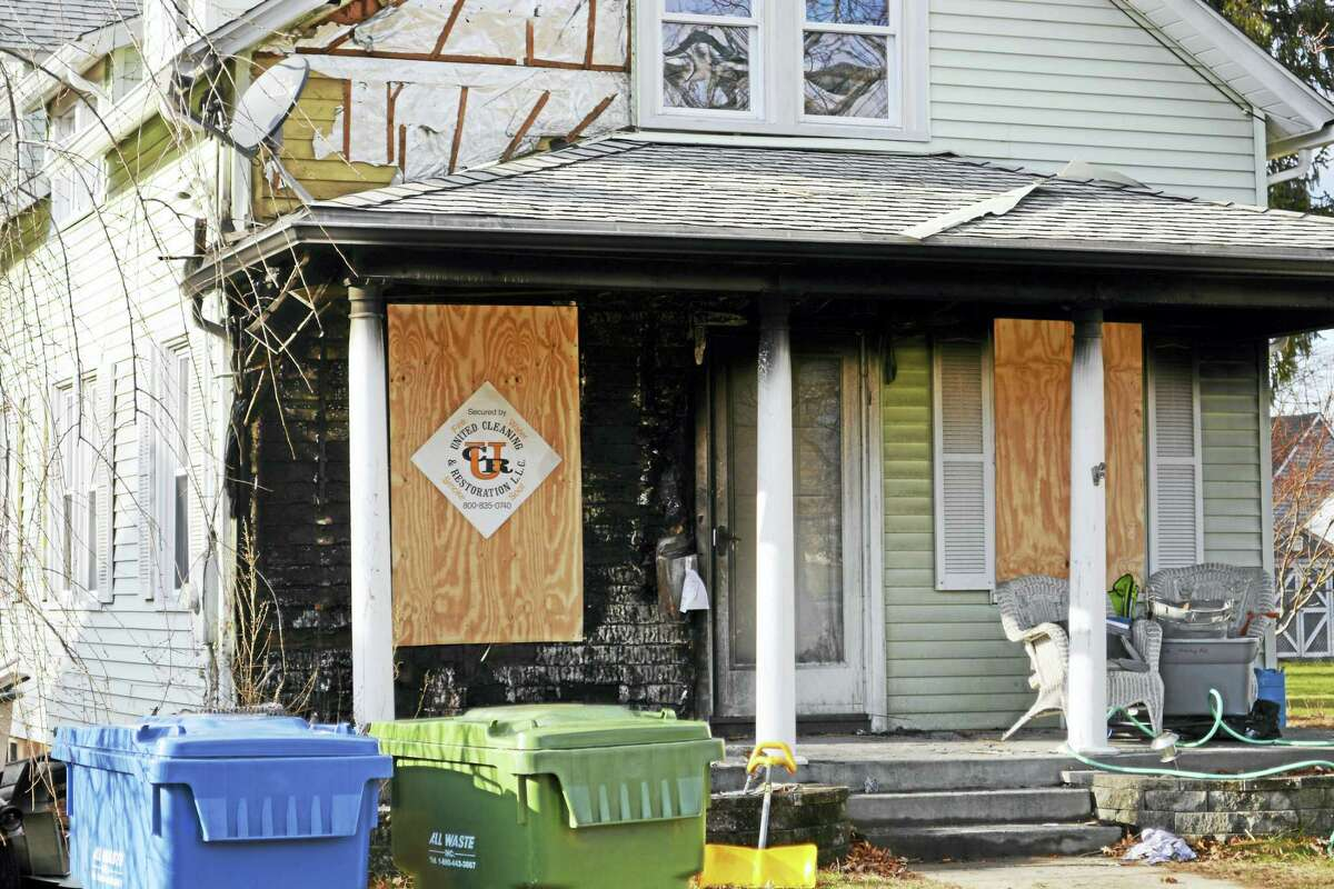 597 Main St. in Cromwell was burned in a fire early Monday morning