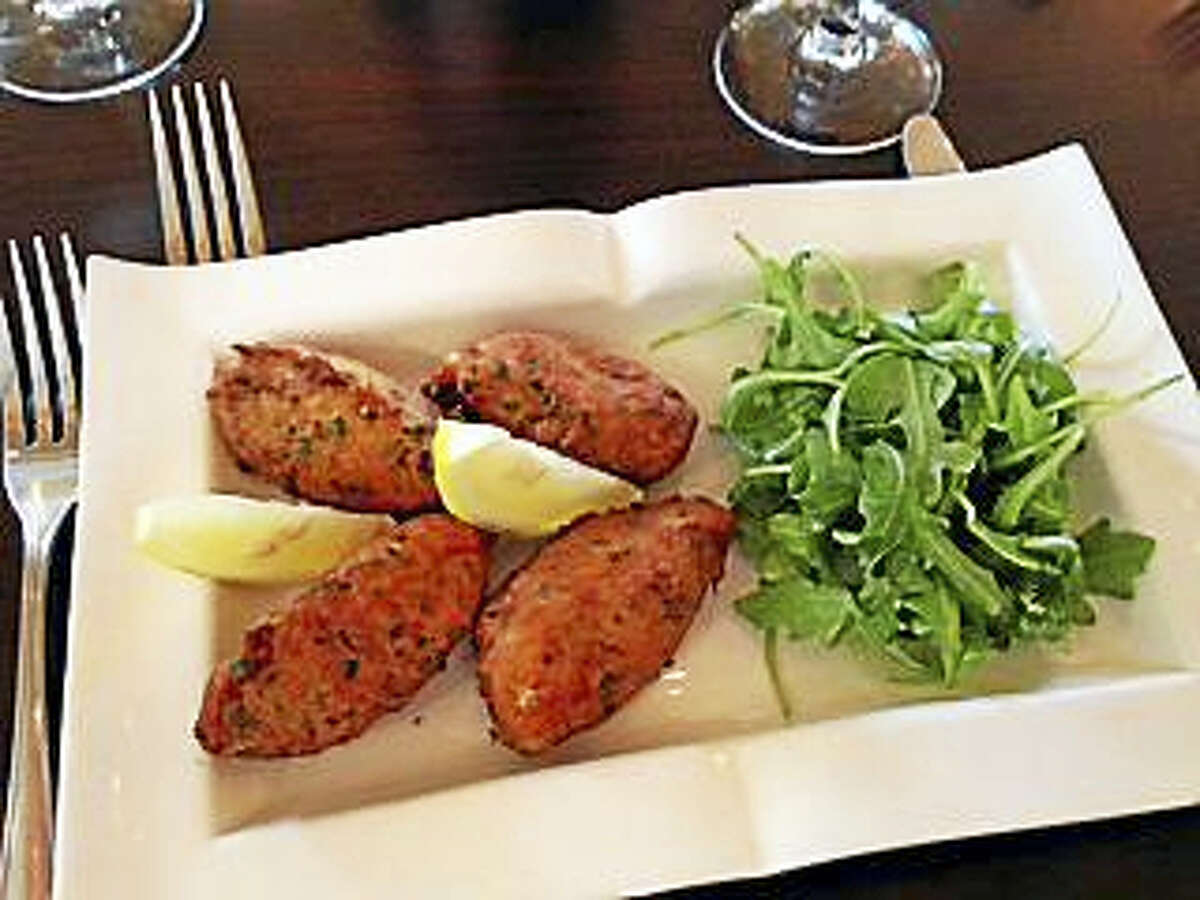 The Library Wine Bar & Bistro's salted cod fish fritters.