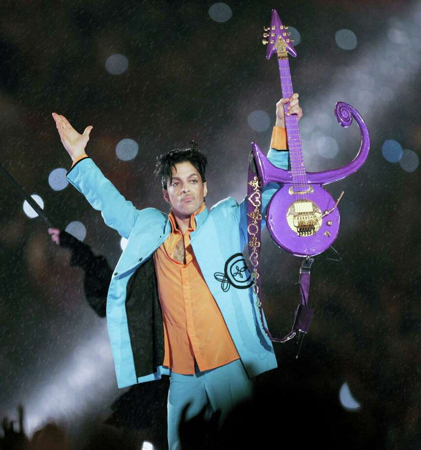 In this Feb. 4, 2007 photo, Prince performs during halftime of the Super Bowl XLI football game in Miami. A hearing will be held Monday, June 27, 2016 in suburban Minneapolis about the procedures for determining who stands to inherit part of Prince's estate. Photo: AP Photo/Chris O'Meara, File  / Copyright 2016 The Associated Press. All rights reserved. This material may not be published, broadcast, rewritten or redistribu