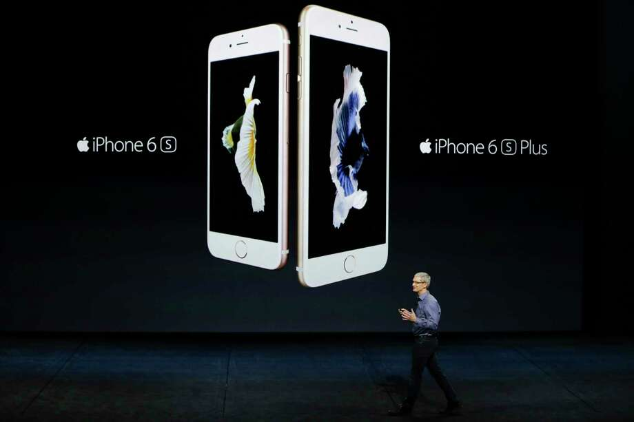 In this Sept. 9, 2015 photo, Apple CEO Tim Cook discusses the new iPhone 6s and iPhone 6s Plus during the Apple event at the Bill Graham Civic Auditorium in San Francisco. Photo: AP Photo/Eric Risberg, File  / AP
