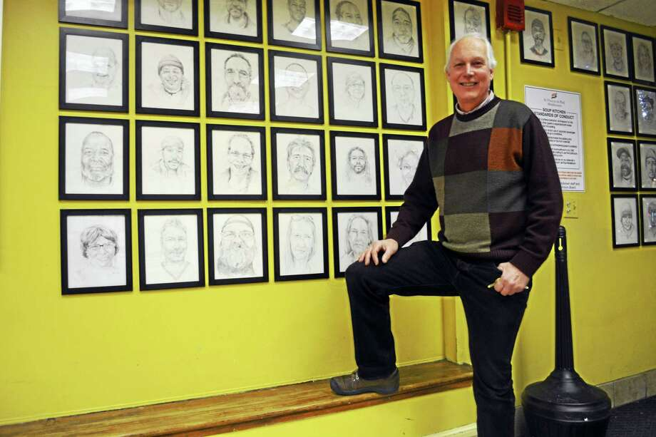 """""""I like the people that we serve,"""" Ron Krom explains. """"I do things that no one has any clue that I'm doing because I just like it."""" Photo: Cassandra Day — The Middletown Press"""
