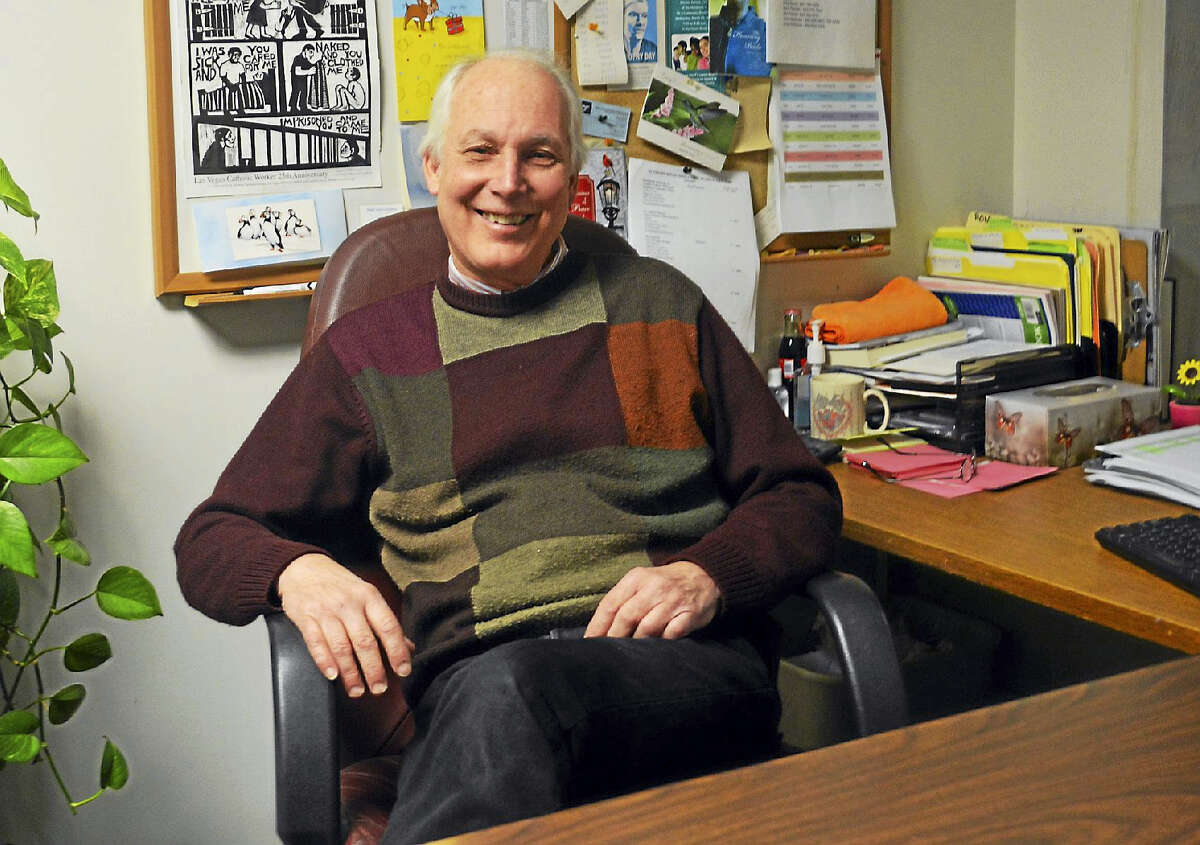Executive Director of the St. Vincent dePaul Place Soup Kitchen and Food Pantry Ron Krom is shown in his office on Main Street in Middletown. Krom has been selected as our Person of the Year for 2016.