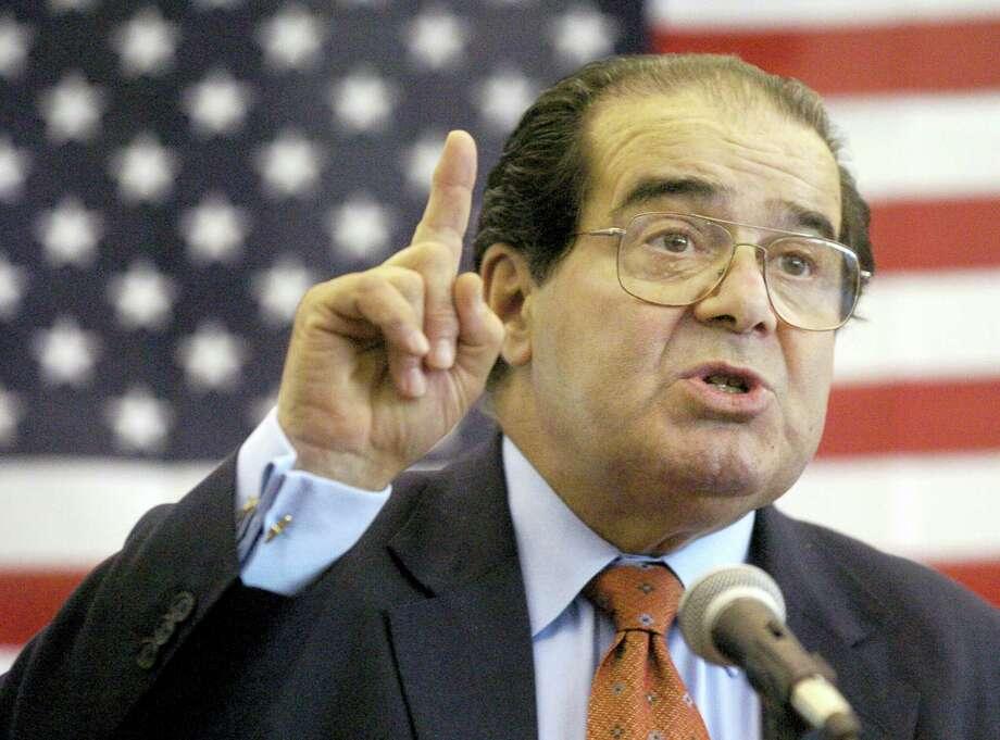 The late U.S. Supreme Court Justice Antonin Scalia Photo: FILE Photo  / The Hattiesburg American
