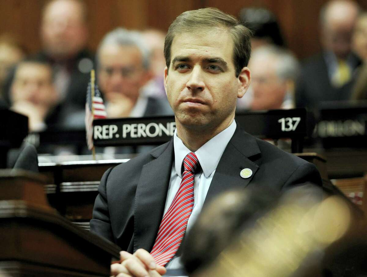 Hartford Mayor Luke Bronin listens to Connecticut Gov. Dannel P. Malloy budget address at the State Capitol in this Feb. 3 file photo.