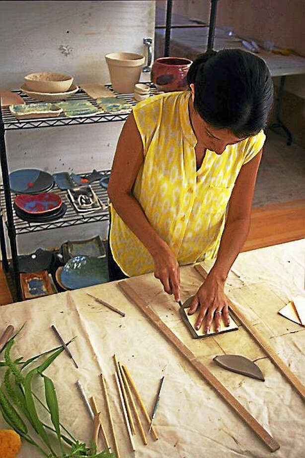 Contributed photoA student takes part in a class at the Art League of New Britain. Photo: Journal Register Co.