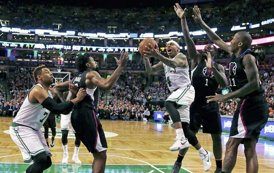 Isaiah Thomas has the Boston Celtics driving to a postseason berth and possibly a run in the Eastern Conference. Photo: The Associated Press  / AP