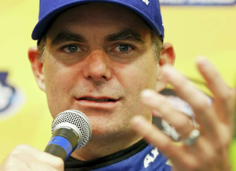 Jeff Gordon gestures during a news conference at the Martinsville Speedway on Friday. Photo: Steve Helber — The Associated Press  / Copyright 2016 The Associated Press. All rights reserved.