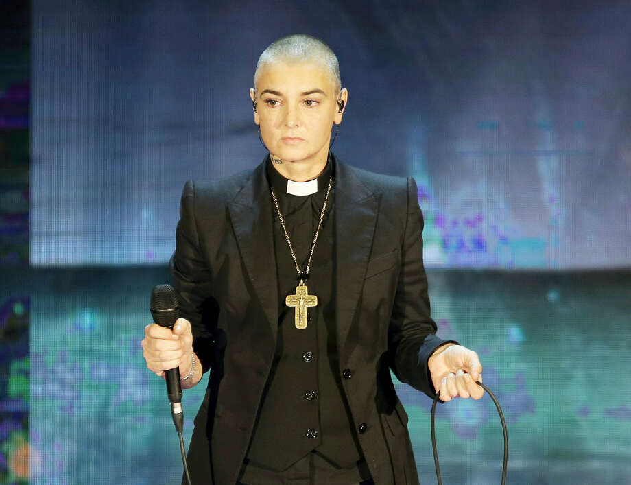"""Irish singer Sinead O'Connor performs during the Italian State RAI TV program """"Che Tempo che Fa"""", in Milan, Italy.  THE ASSOCIATED PRESS Photo: AP / Copyright 2016 The Associated Press. All rights reserved. This material may not be published, broadcast, rewritten or redistribu"""