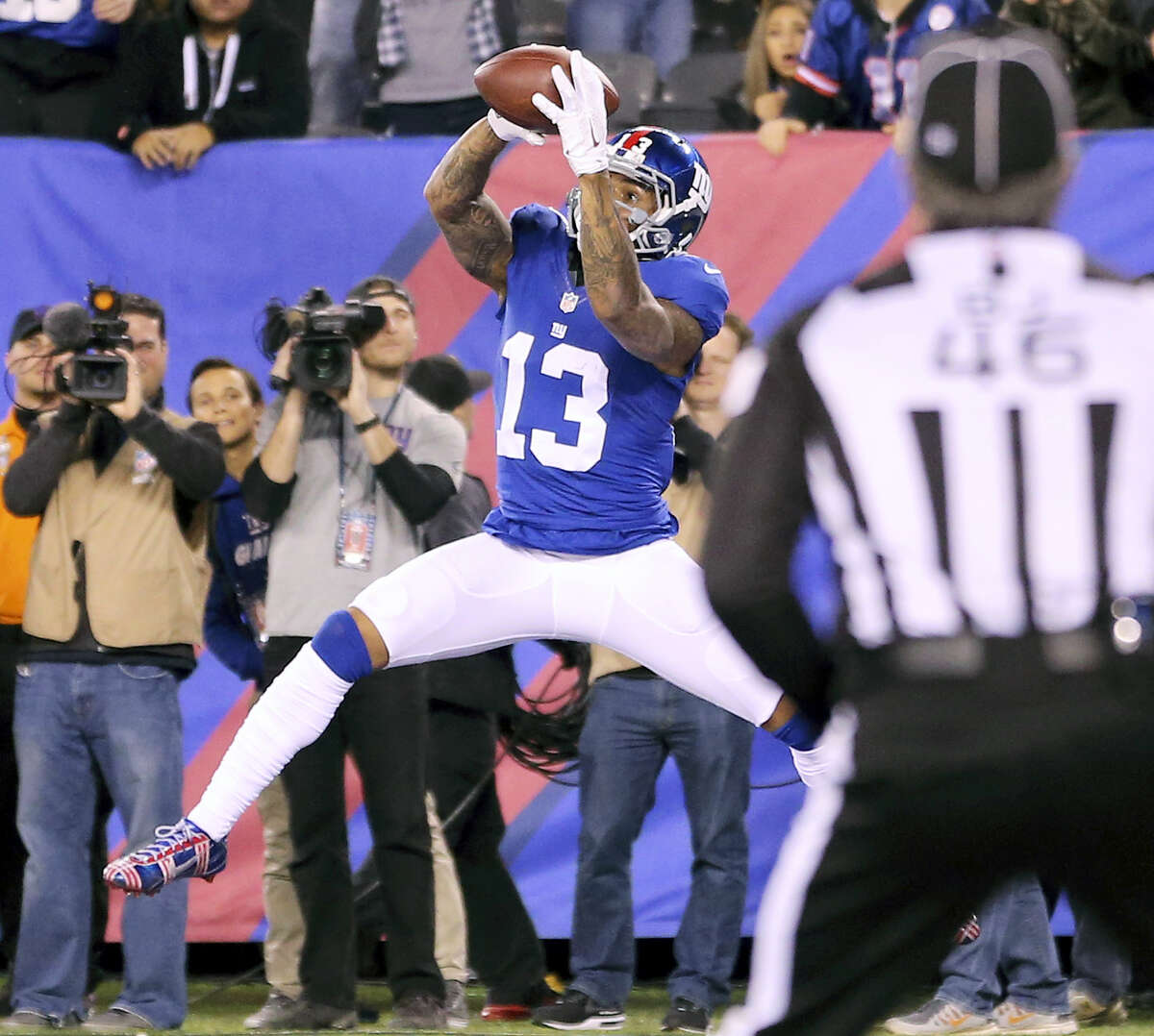 There's plenty at stake for the New York Giants and wide receiver Odell Beckham Jr. when they visit the Philadelphia Eagles. The Giants (10-4) can clinch a playoff berth with a victory tonight.