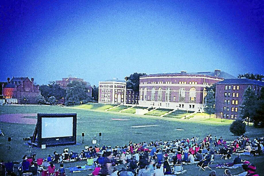 "In in inaugural year in 2015, two films were screened during the summer months: ""E.T. The Extraterrestrial,"" drew 400 individuals to Wesleyan University's Foss Hill while the second, ""Frozen,"" pulled in nearly double the attendance with 700 people. Photo: Justin Carbonella — Middletown Youth Services"