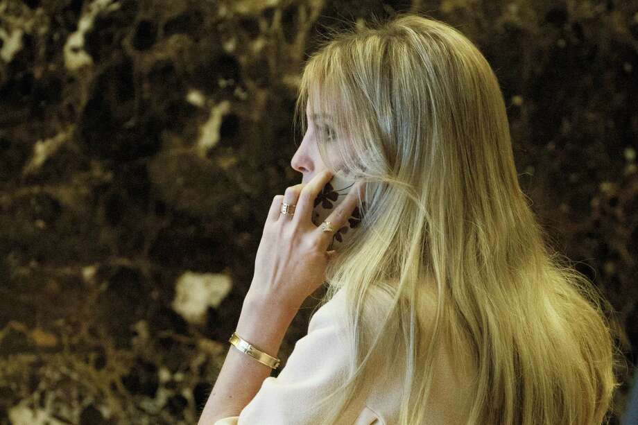 Ivanka Trump, daughter of President-elect Donald Trump, arrives at Trump Tower in New York. Photo: Evan Vucci — AP File Photo  / Copyright 2016 The Associated Press. All rights reserved.
