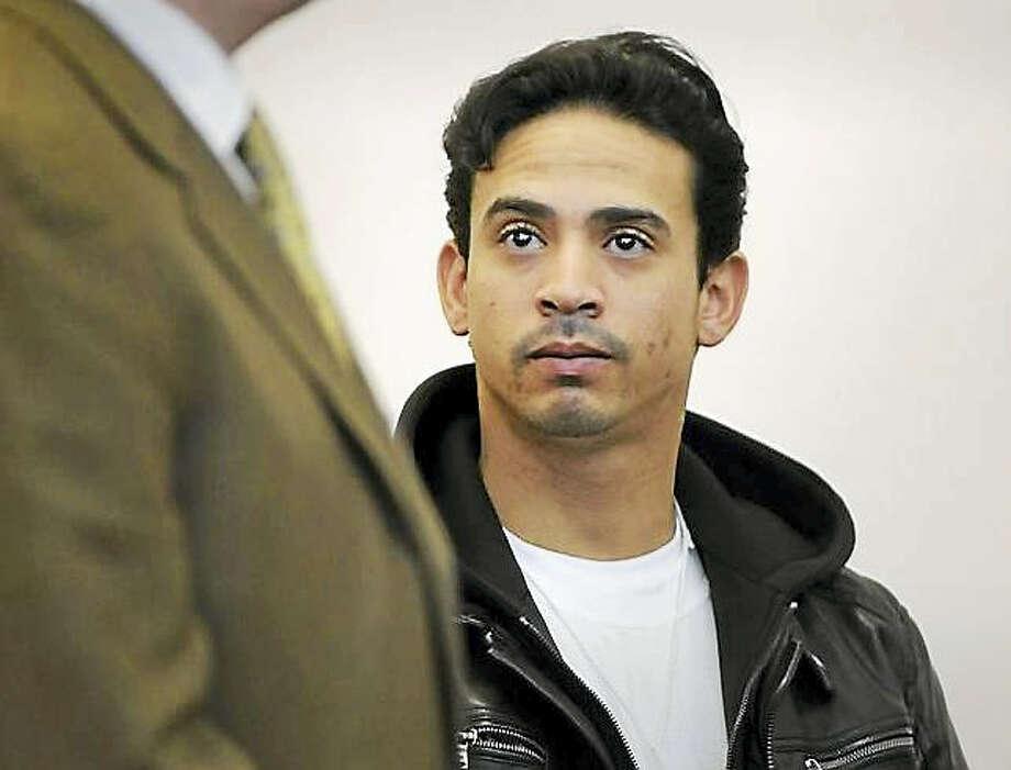 Screenshot via telegram.com: Amador Medina is arraigned in Worcester Superior Court in February. (T&G File Photo/Paul Kapteyn) Photo: Journal Register Co.