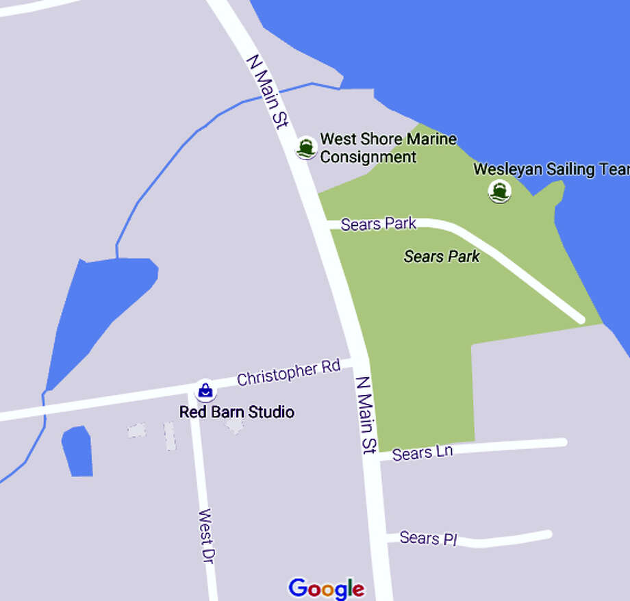 A portion of North Main Street will be closed to traffic in both directions on Friday in East Hampton. Photo: Google Earth