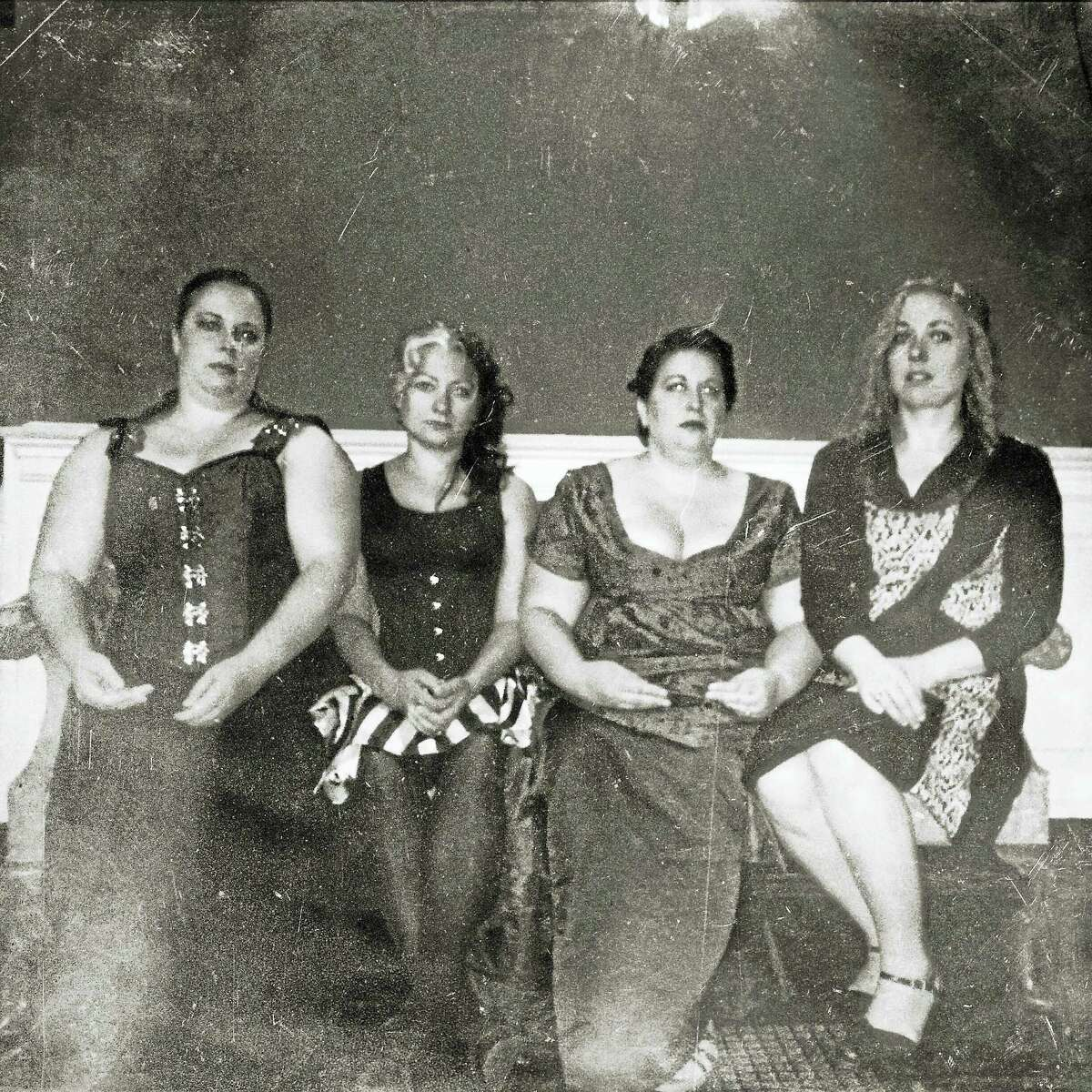 Performance art group Le Tre Fenici, from left: Anna Luther, Lindsey Reiker, Zohra Rawling and Gretchen Frazier.