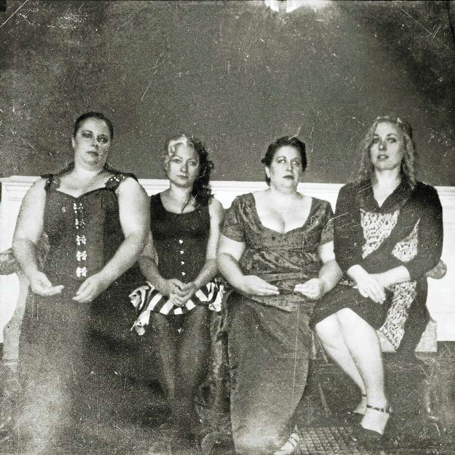 Performance art group Le Tre Fenici, from left: Anna Luther, Lindsey Reiker, Zohra Rawling and Gretchen Frazier. Photo: Contributed