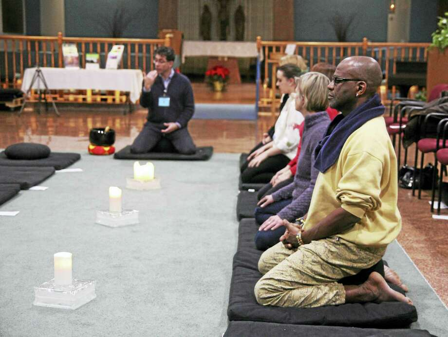 JODIE MOZDZER GIL — CONN. HEALTH I-TEAM Meditation session at the Cooper Beech Institute, West Hartford Photo: Journal Register Co.