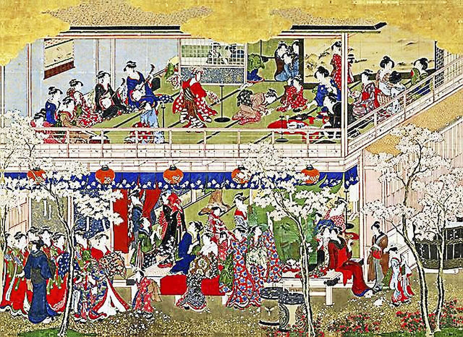 "Contributed photo courtesy of the Wadsworth Atheneum Two monumental scroll paintings by Japanese artist Kitagawa Utamaro (1753-1806) will be reunited for the first time in more than 130 years at the Wadsworth Atheneum Museum of Art in an exhibition, ""Utamaro and the Lure of Japan,"" opening Jan. 7. Photo: Digital First Media"