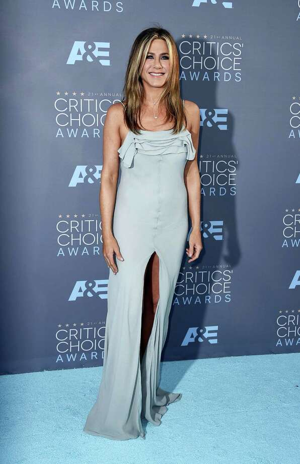 "In this Jan. 17, 2016, file photo, Jennifer Aniston arrives at the 21st annual Critics' Choice Awards at the Barker Hangar in Santa Monica, Calif. People Magazine has named Aniston its ""World's Most Beautiful Woman"" of 2016. The 47-year-old actress graces the cover of People's 27th annual ""World's Most Beautiful"" double issue. Photo: Photo By Jordan Strauss/Invision/AP, File   / Invision"