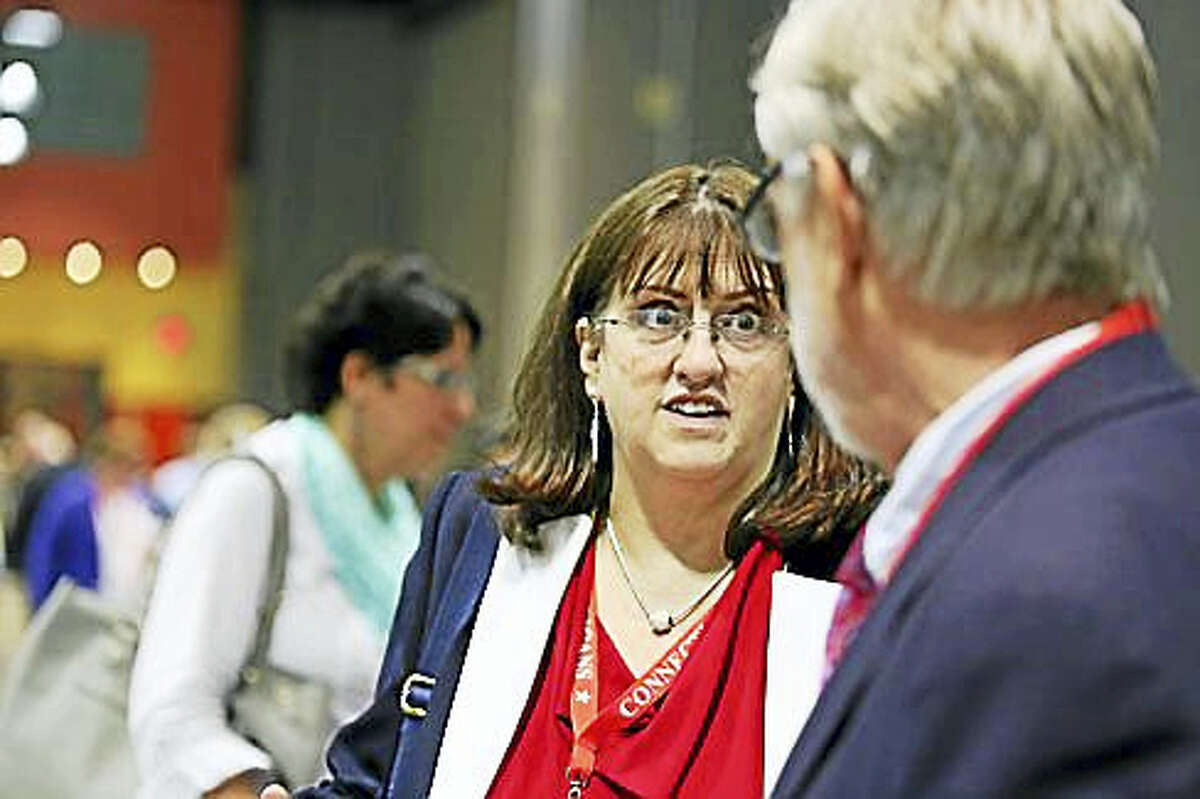 Daria Novak after receiving the endorsement at the Republican convention in May
