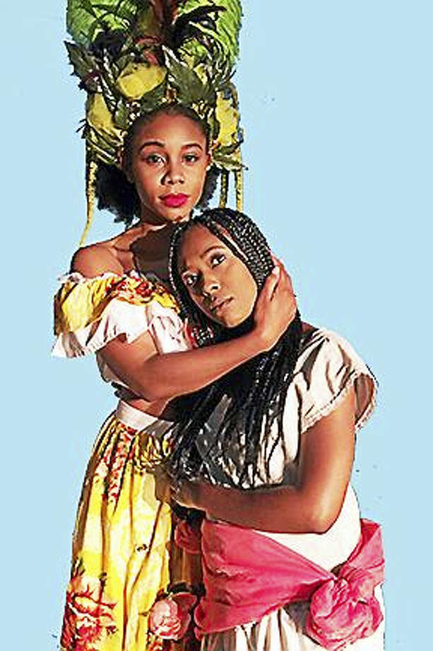 Contributed photo  Khadija Ansari as Asaka and Tiffany Vinters as Ti Moune in Once on This Island, opening June 24 in New Britain. Photo: Journal Register Co.