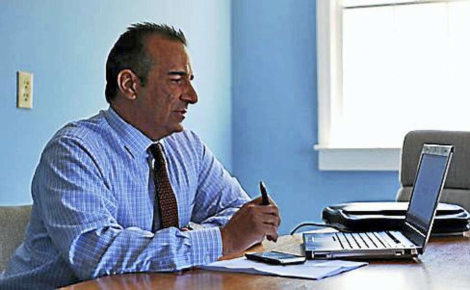 Joe Gaetano, president of the International Brotherhood of Police Officers Local 731, criticizes the decision to layoff judicial marshals. Photo: CHRISTINE STUART — CTNEWSJUNKIE.COM