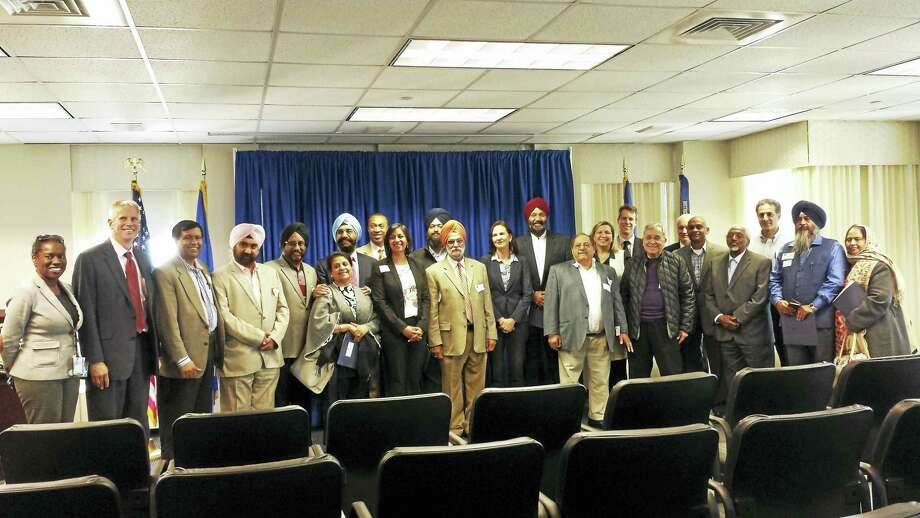 U.S. Attorney Deirdre Daly holds a meeting to discuss ways in which U.S. Attorney's Office can help address religious discrimination and prevent hate crimes in Connecticut. Photo: Anna Bisaro - New Haven Register