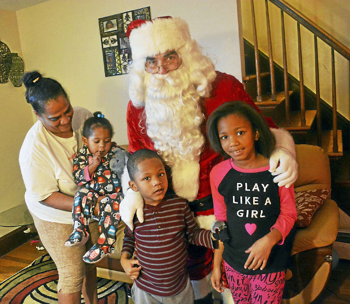 Ten families were visited during the holiday brigade.