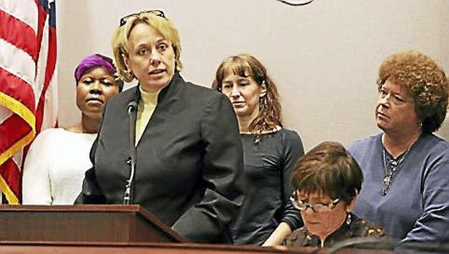 Lori Pelletier, president of the AFL-CIO Photo: CHRISTINE STUART/CT NEWS JUNKIE