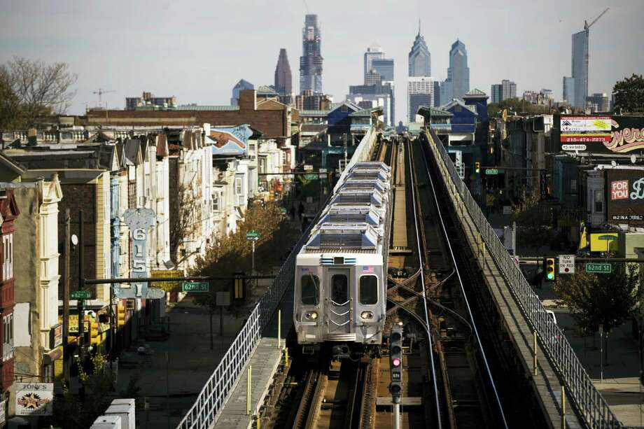 A train moves along the Market-Frankford Line in Philadelphia Wednesday. Photo: Matt Rourke — The Associated Press  / Copyright 2016 The Associated Press. All rights reserved.