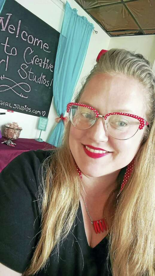 Laurie-Lynne Zlotowski of Meriden, who teaches arts and crafts classes throughout the Connecticut, is owner of Creative Girl Studios on Main Street in Middletown. Photo: Contributed Photo