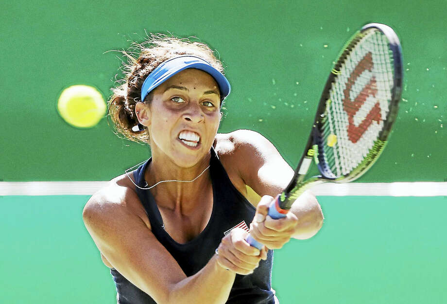 Madison Keys was forced to withdraw from the Connecticut Open with a neck injury. Photo: The Associated Press File Photo  / Copyright 2016 The Associated Press. All rights reserved. This material may not be published, broadcast, rewritten or redistribu