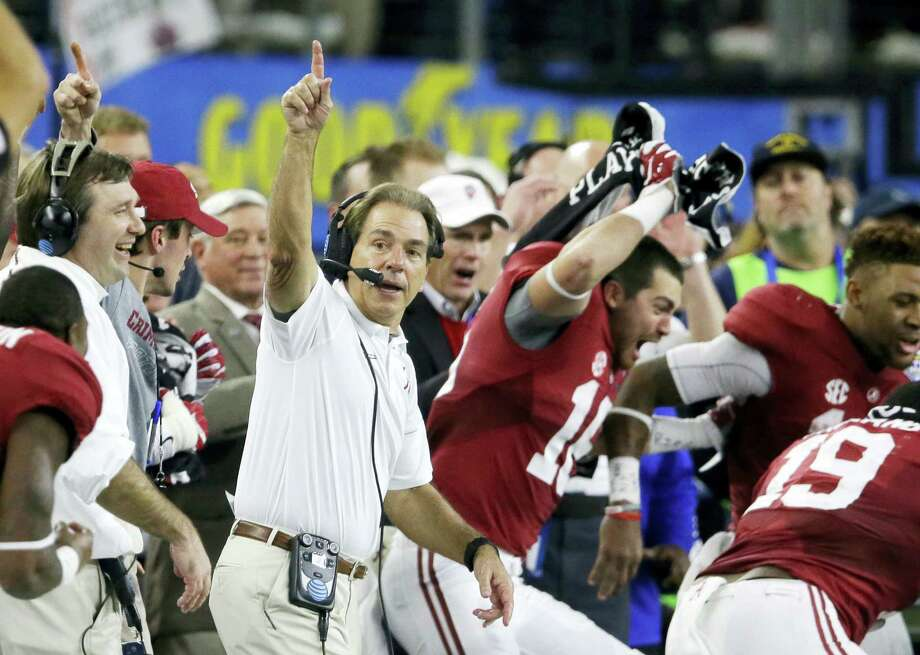 Head coach Nick Saban and Alabama were voted No. 1 in The Associated Press preseason Top 25 poll. Photo: LM Otero — The Associated Press File  / Copyright 2016 The Associated Press. All rights reserved. This material may not be published, broadcast, rewritten or redistribu