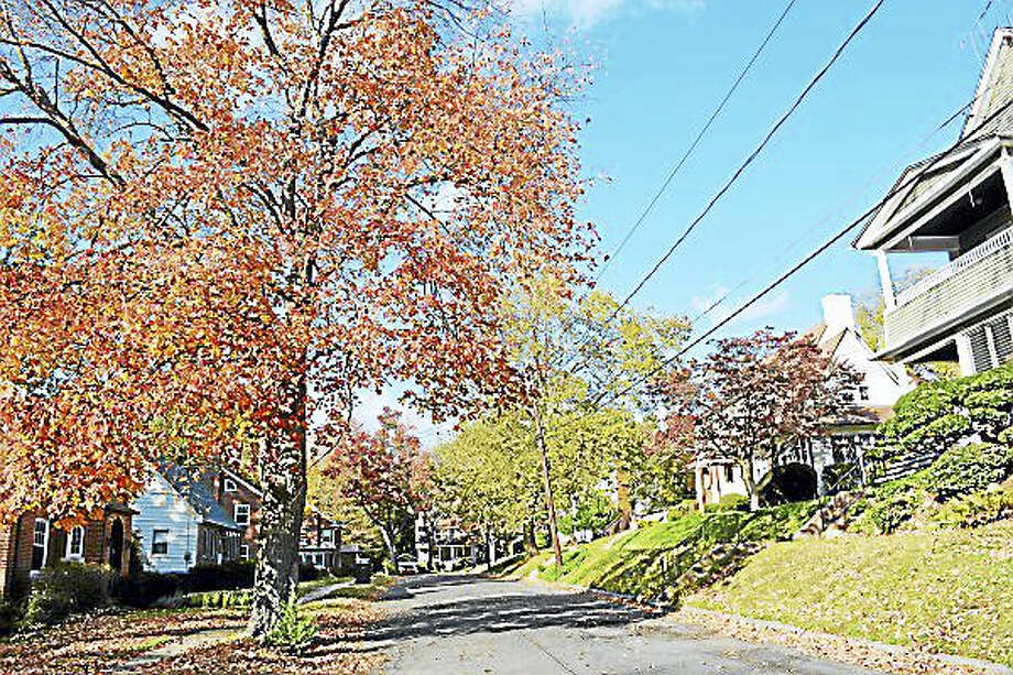 Mazzotta Place is part of the North End of Middletown neighborhood that will undergo water and sewer main replacements should the $4.26 million bond referendum pass on Election Day. Photo: Cassandra Day — The Middletown Press