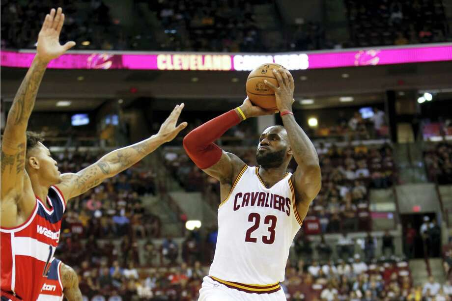 Cleveland Cavaliers' LeBron James plays against the Washington Wizards during an NBA preseason basketball game  onOct. 18, 2016 in Columbus, Ohio. Photo: AP Photo/Jay LaPrete  / FR52593 AP