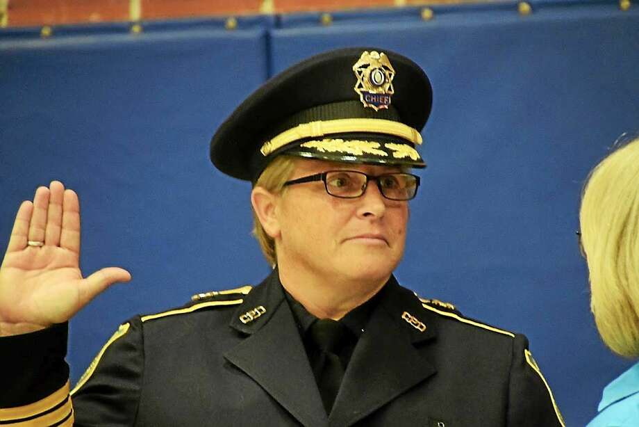 Cromwell Police Chief Denise Lamontagne, who became the top cop in 2015 after 25 years with the department, has returned from the FBI Academy in Virginia after 10 weeks of intensive training. Photo: File Photo