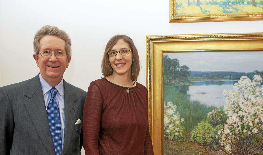 Photo by Sean FlynnThe exhibition, Ten/Forty: Collecting American Art at the Florence Griswold Museum commemorates the fortieth anniversary of Jeffrey Andersen's tenure as Director of the Museum, and the tenth anniversary of Curator Amy Kurtz Lansing. Photo: Journal Register Co.