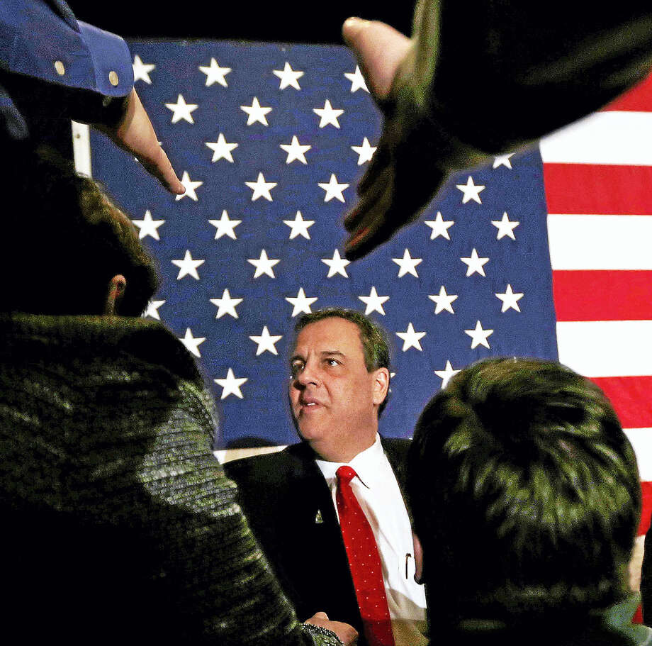 Republican presidential candidate, New Jersey Gov. Chris Christie thanks supporters during a primary night rally in Nashua, N.H., Tuesday, Feb. 9, 2016. Photo: AP Photo/Charles Krupa / AP