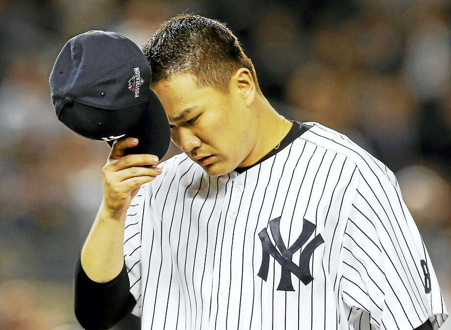 Masahiro Tanaka, recovering from offseason elbow surgery, threw off a mound on Tuesday. Photo: The Associated Press File Photo  / AP