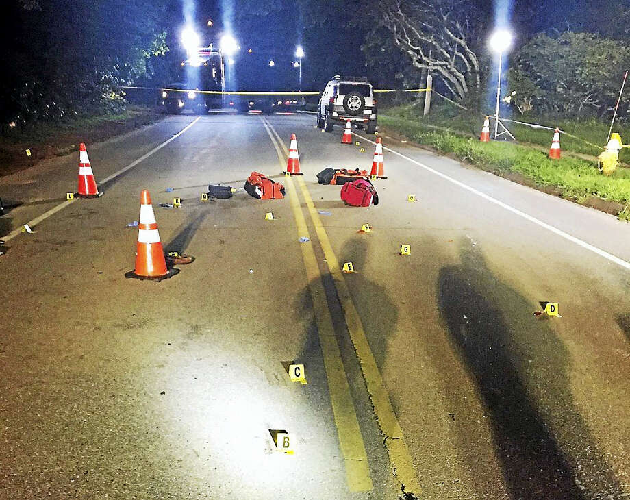 An 89-year-old man was killed Tuesday night on Maple Avenue near Cambridge Court West in Old Saybrook after being hit by a car. Photo: Courtesy Old Saybrook Police