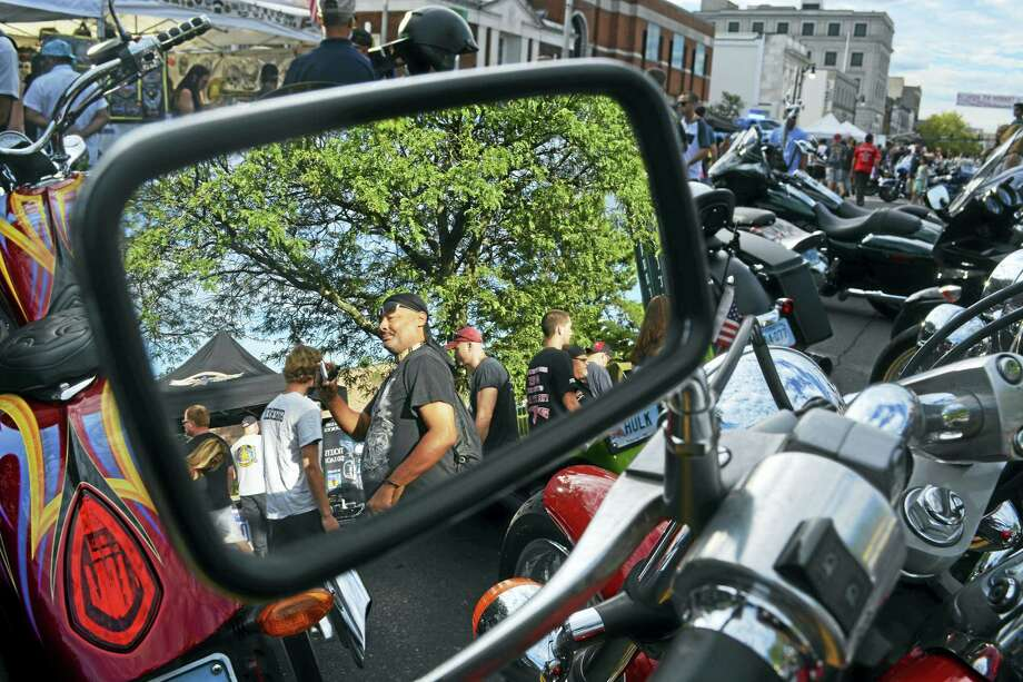 It was the perfect summer night for Motorcycle Mania in Middletown.   Wednesday as thousands upon thousands of bikes lined Main Street, from Route 66 to   Union Street, and packed the South Green. Photo: Cassandra Day — The Middletown Press